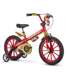 Bicicleta---Aro-16---Homem-de-Ferro---Nathor---Vermelho-0
