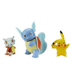 Figuras-de-Acao---Pokemon---Wartortle---Pikachu---Cubone---Sunny-1