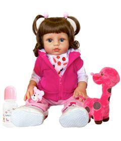Boneca-Bebe-Reborn---Nicole-e-Girafinha---48-cm---Rosa---Unidoll-0
