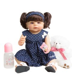 Boneca-Bebe-Reborn---Laura-e-Ursinho---55-cm---Azul-Marinho---Unidoll-0