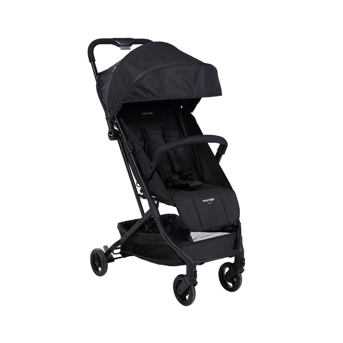 Carrinho De passeio para Bebê Yupi Preto até 15kg- Voyage