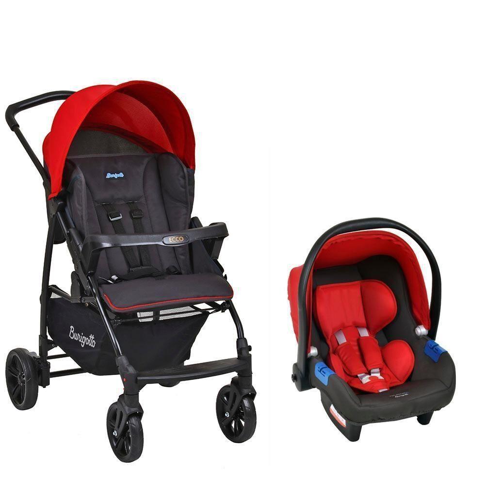 Carrinho de Bebê Travel System Ecco Vermelho - Burigotto