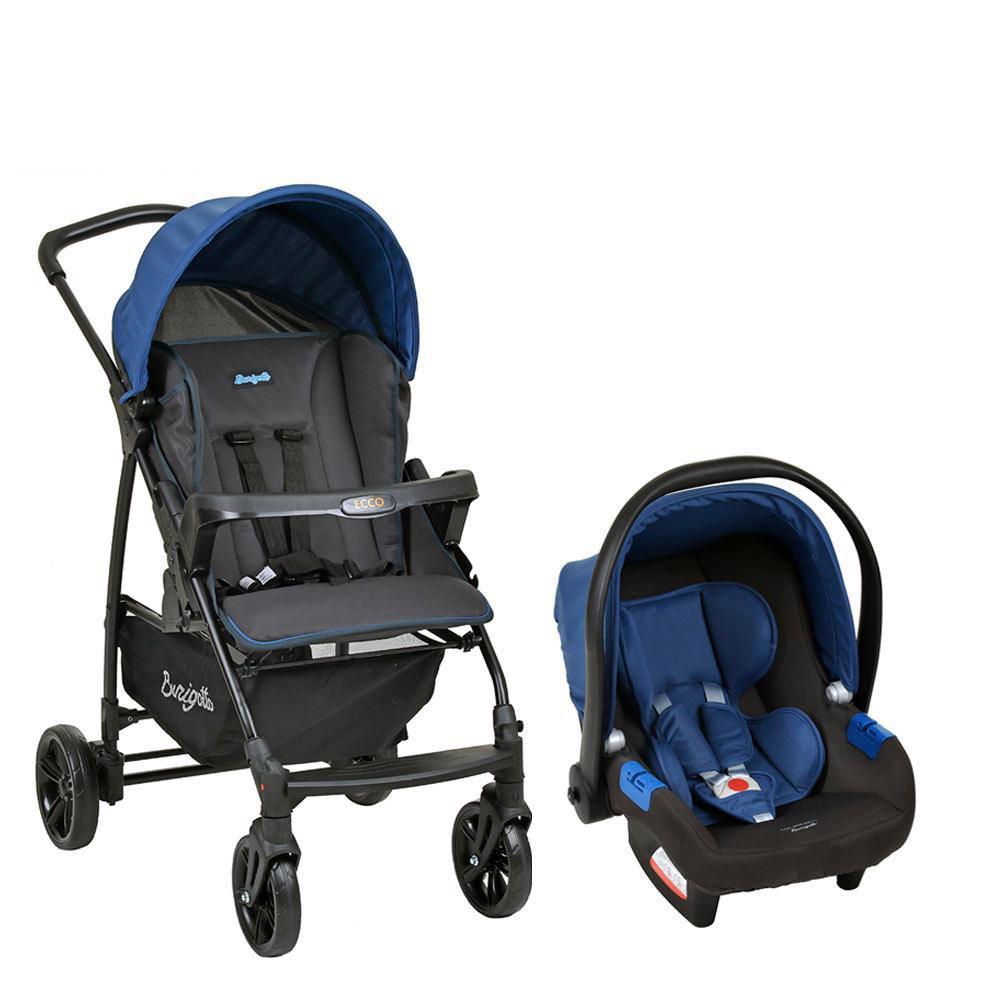 Carrinho de Bebê Travel System Ecco Azul - Burigotto