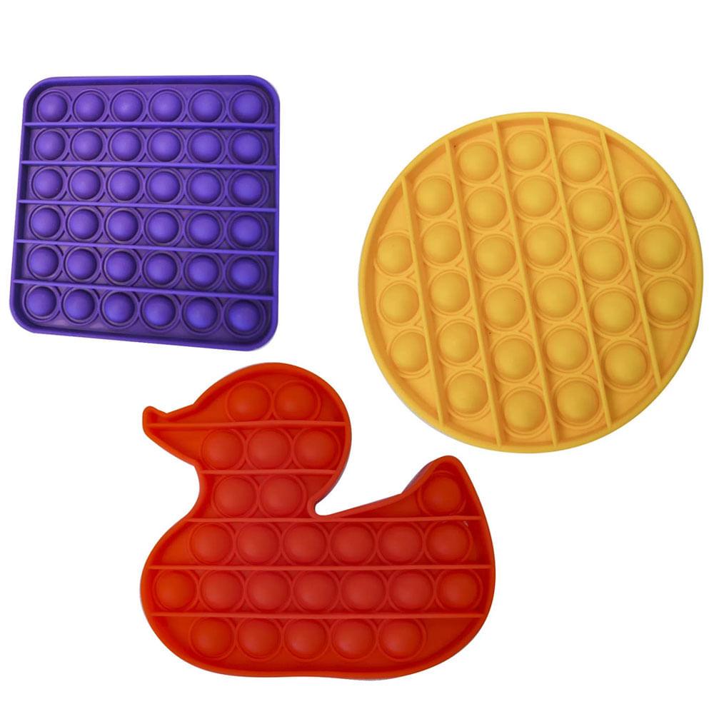 Kit de Fidget Toys - Pop Fun - Animais e Formas - 3 Unidades - Yes Toys