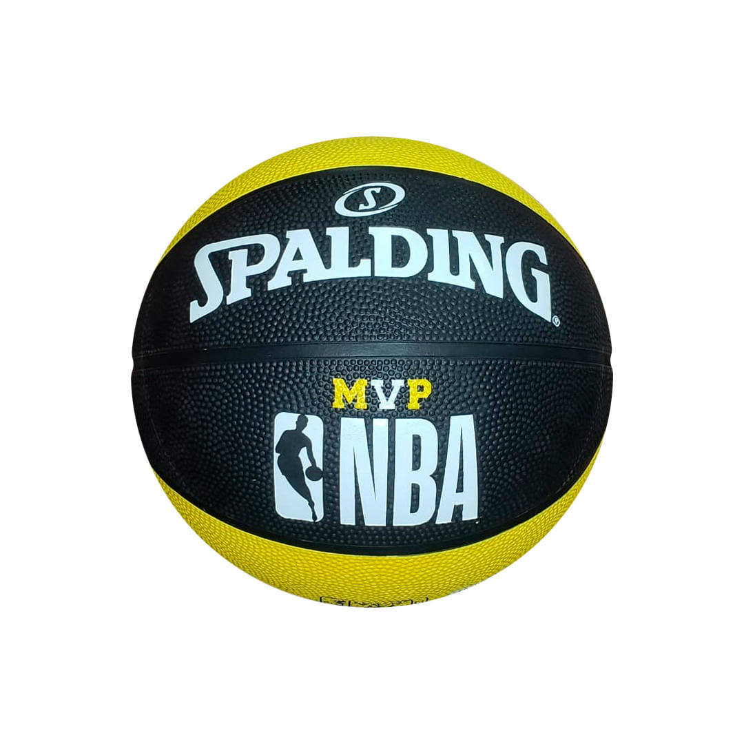 Bola de Basquete - NBA MVP - Preta e Amarela - Spalding - Tamanho 7