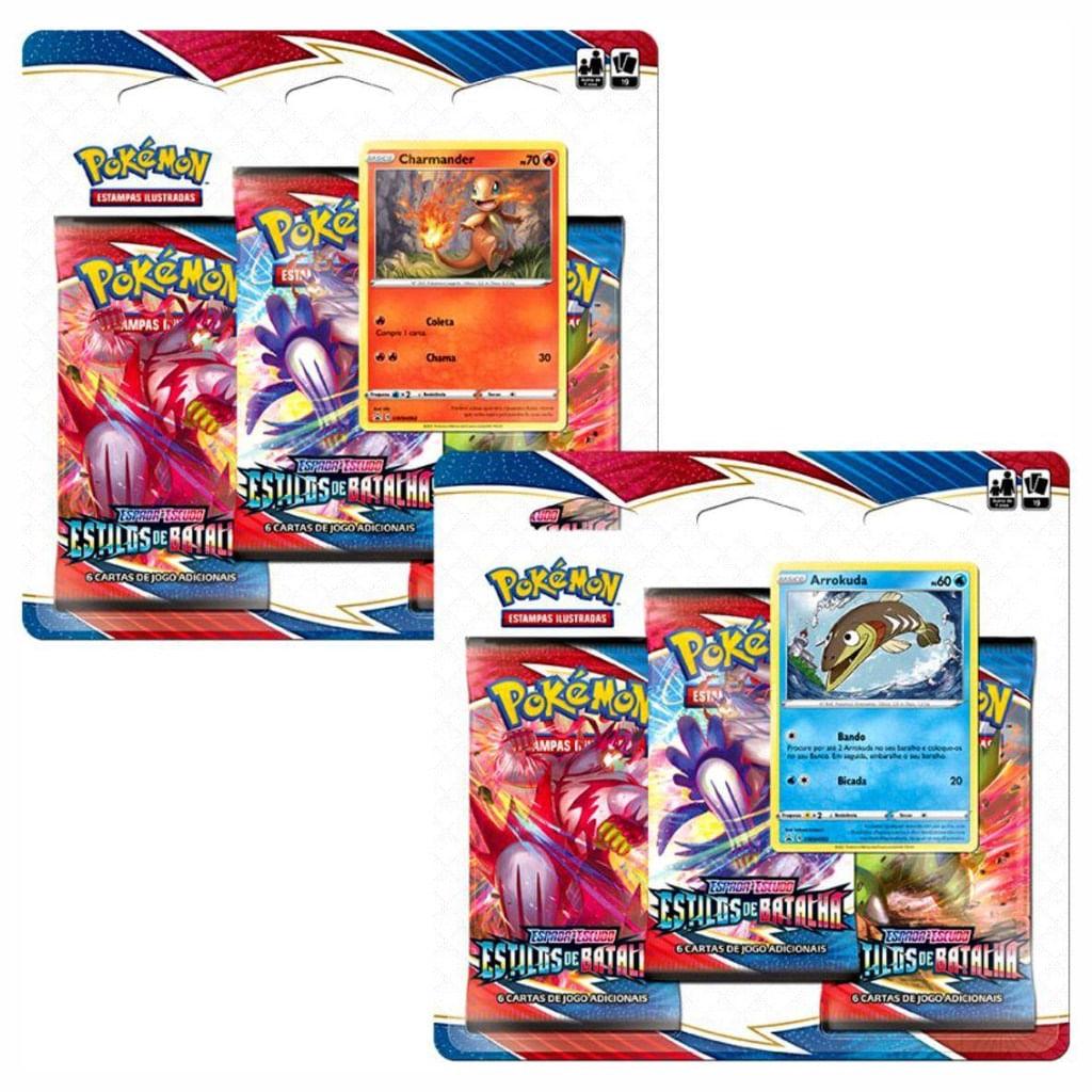 Pokémon 2 Blister - Charmander e Arrokuda Estilo de Batalha