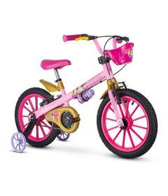 Bicicleta---ARO-16---Princesas---Nathor---Rosa-0