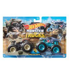 Conjunto-de-Veiculos-Hot-Wheels---Monster-Trucks---Leopard-Shark-Vs-Mega-Wrex---Mattel_Frente