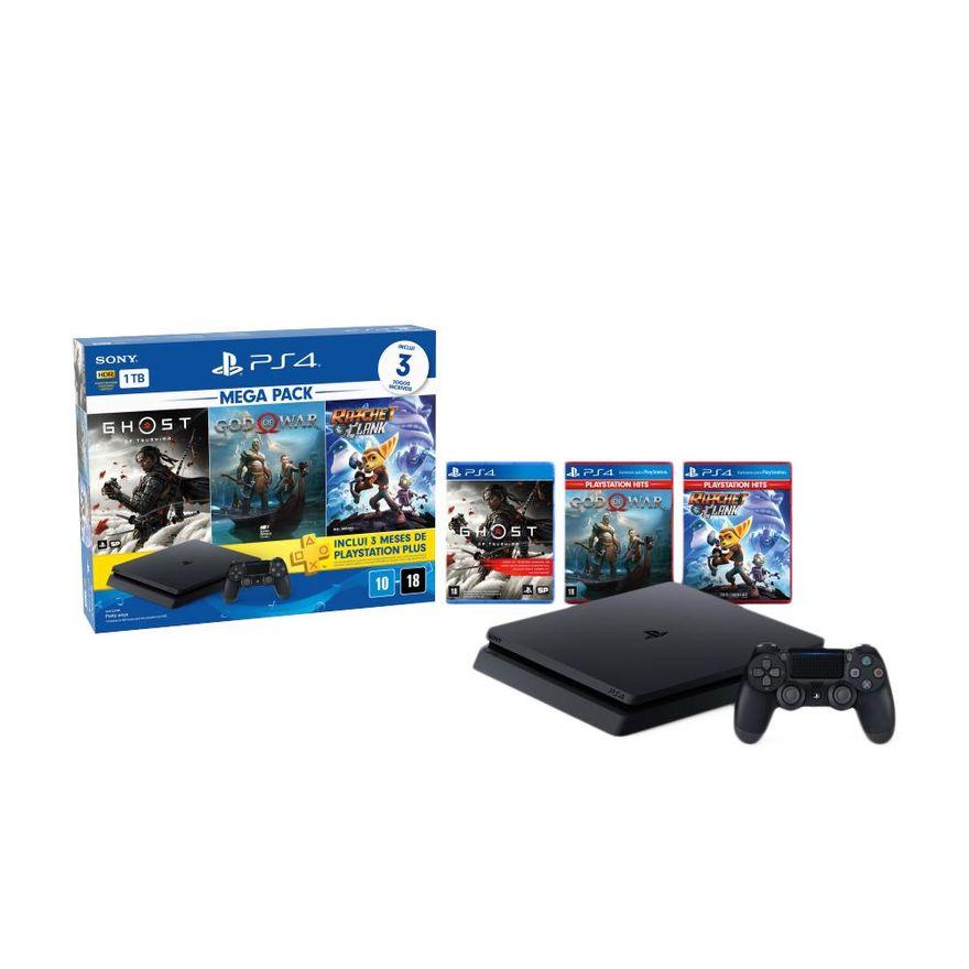Playstation-4---Mega-Pack-V18---1TB-com-3-Jogos---Sony-0