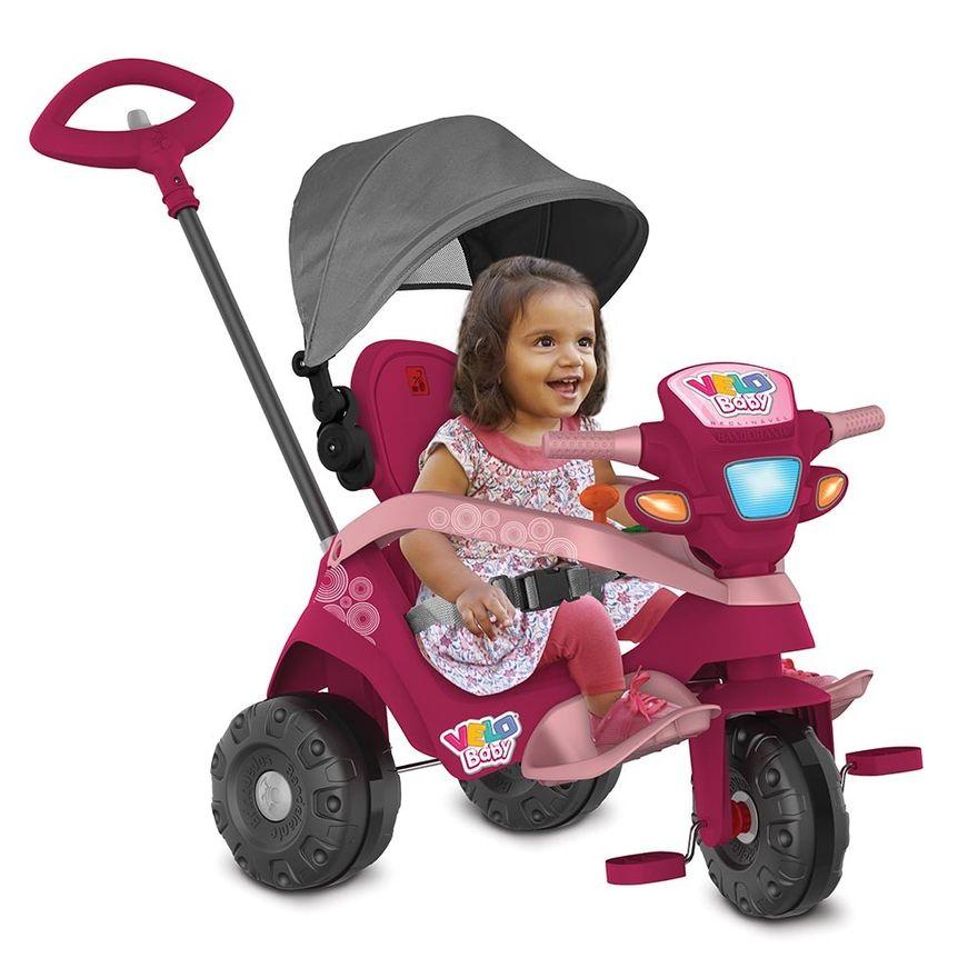 Triciclo-de-Passeio-e-Pedal---Velobaby---Reclinavel-Com-Capota---Pink---Bandeirante-3