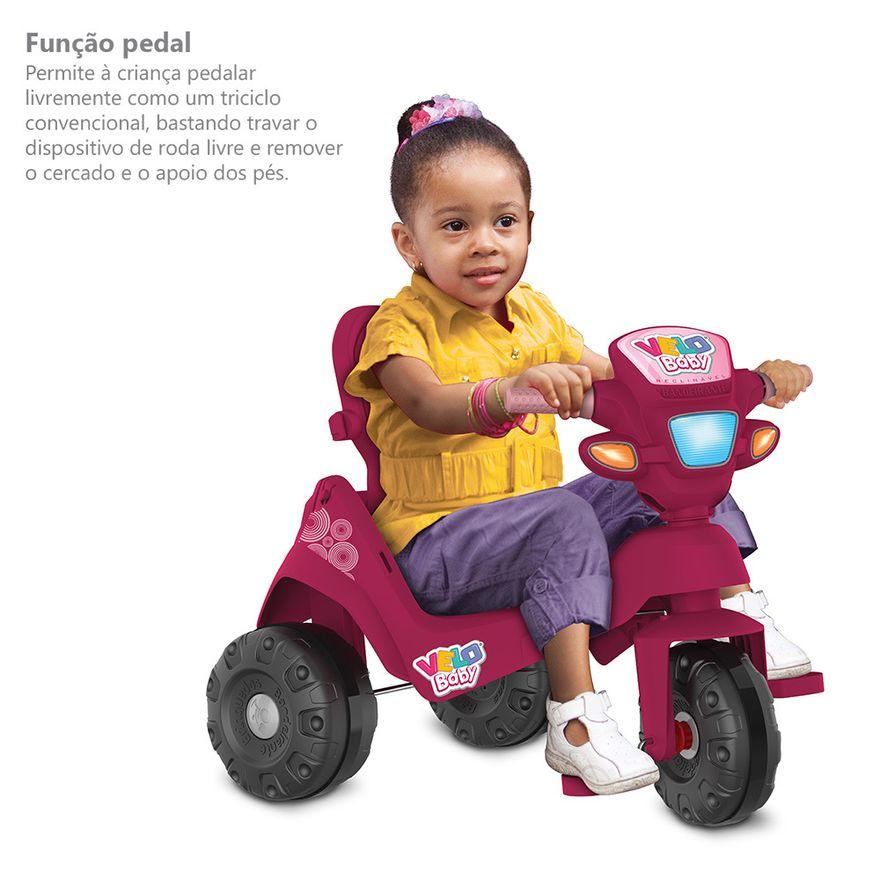 Triciclo-de-Passeio-e-Pedal---Velobaby---Reclinavel-Com-Capota---Pink---Bandeirante-8