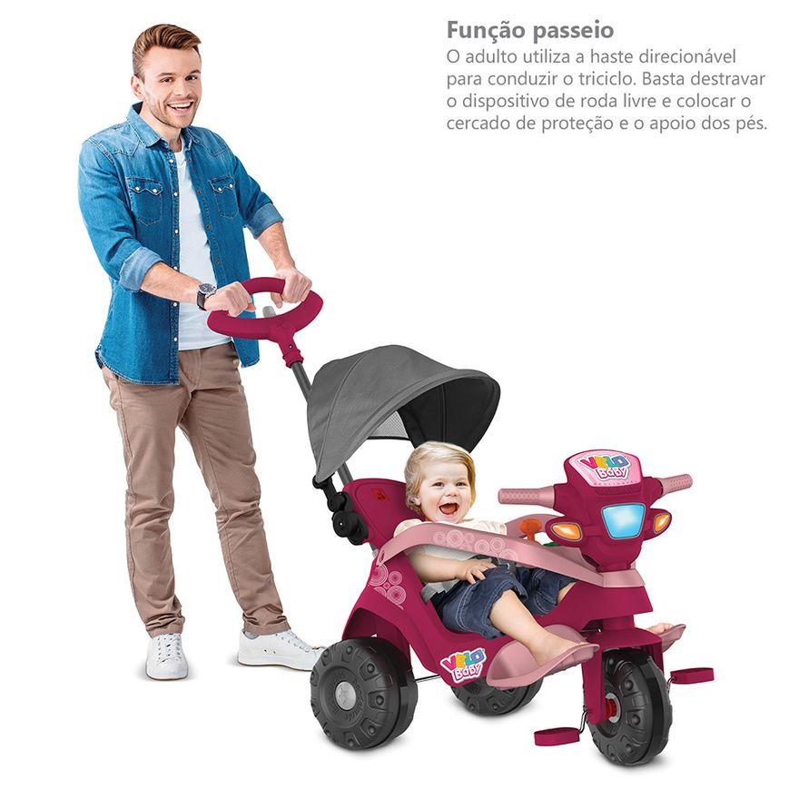 Triciclo-de-Passeio-e-Pedal---Velobaby---Reclinavel-Com-Capota---Pink---Bandeirante-9