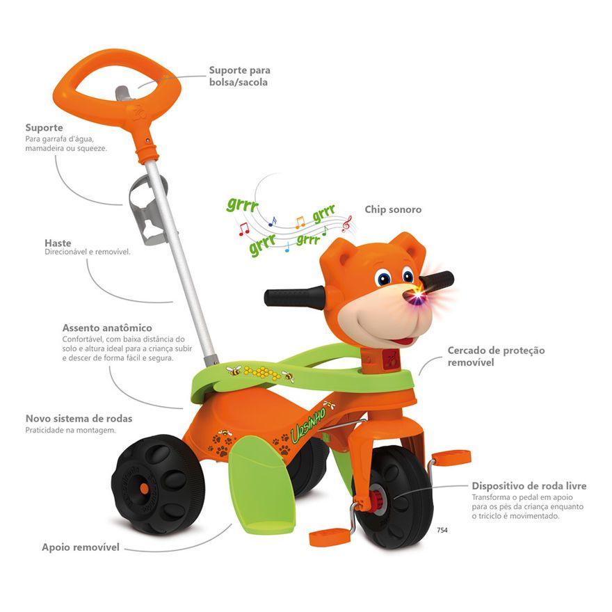 Triciclo---Passeio-e-Pedal---Zootico-Ursinho---Laranja---Bandeirante-1