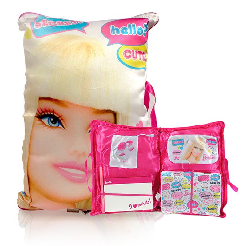 Travesseiro com Diário - Barbie - Barão Toys