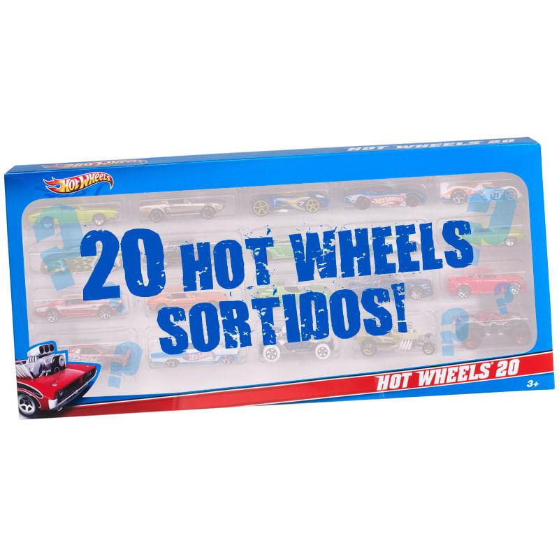 Carrinhos Hot Wheels - Pacote com 20 Carros Sortidos - Mattel