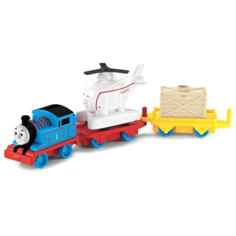 Trem Thomas & Friends - Thomas e Harold Gira-Gira - Fisher