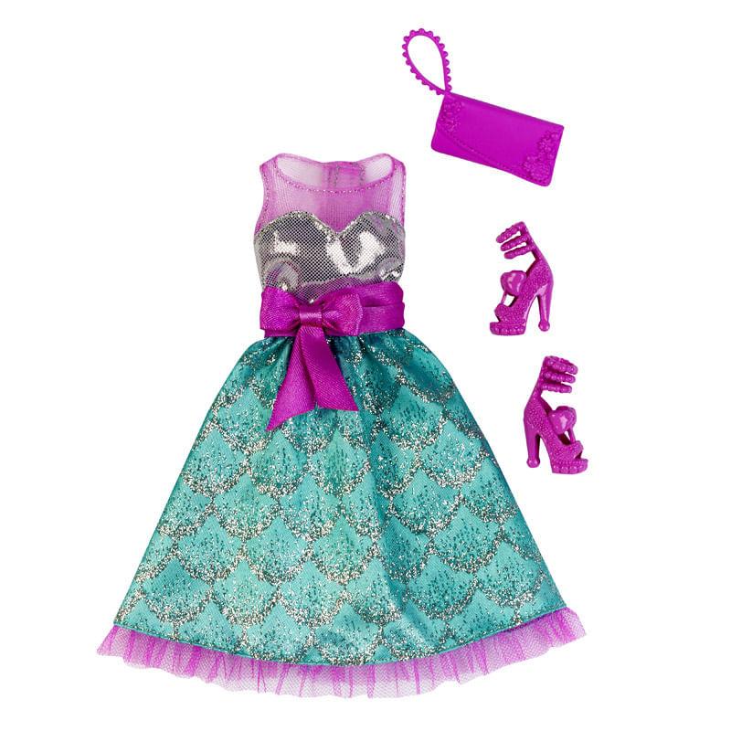 Roupinha Barbie Fashionistas - Vestido Rosa e Azul Claro - Mattel