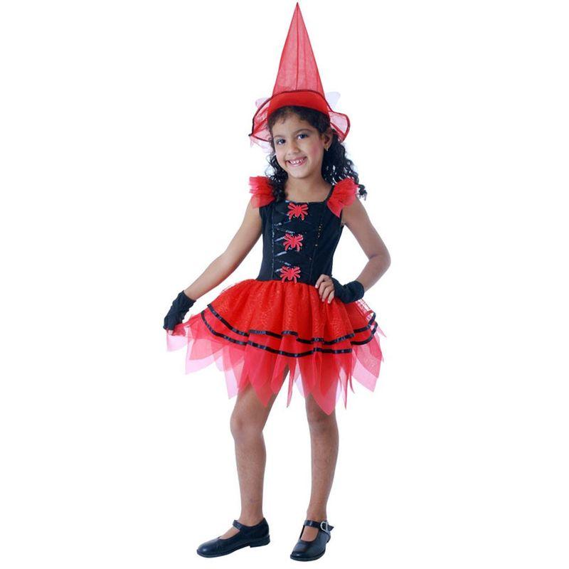 0023b72fe Fantasia Halloween - Bruxa Fashion com Aranhas - Tamanho M - Sulamericana -  Ri Happy Brinquedos