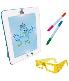 Fun-Pad-3D-Galinha-Pintadinha-com-Canetas-e-oculos-3D