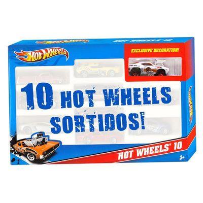 Hot-Wheels---Pacote-com-10-Carros---Carro-Branco