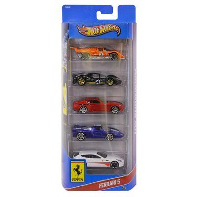 Hot-Wheels-Pacote-5-Carros---Ferrari-X9848