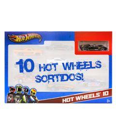Carrinhos-Hot-Wheels-Pacote-com-10-Carros-Carro-Preto-Mattel