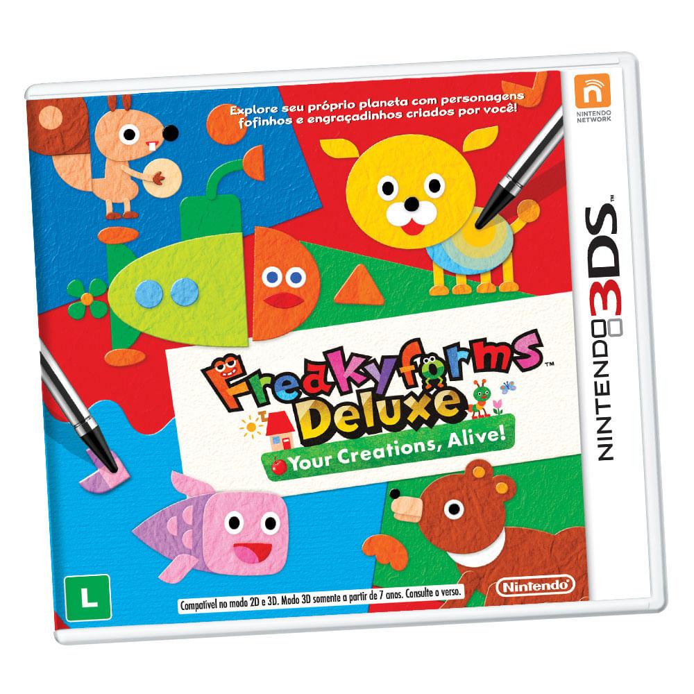 Jogo Nintendo 3DS - Freakyforms Deluxe: Your Creations, Alive!