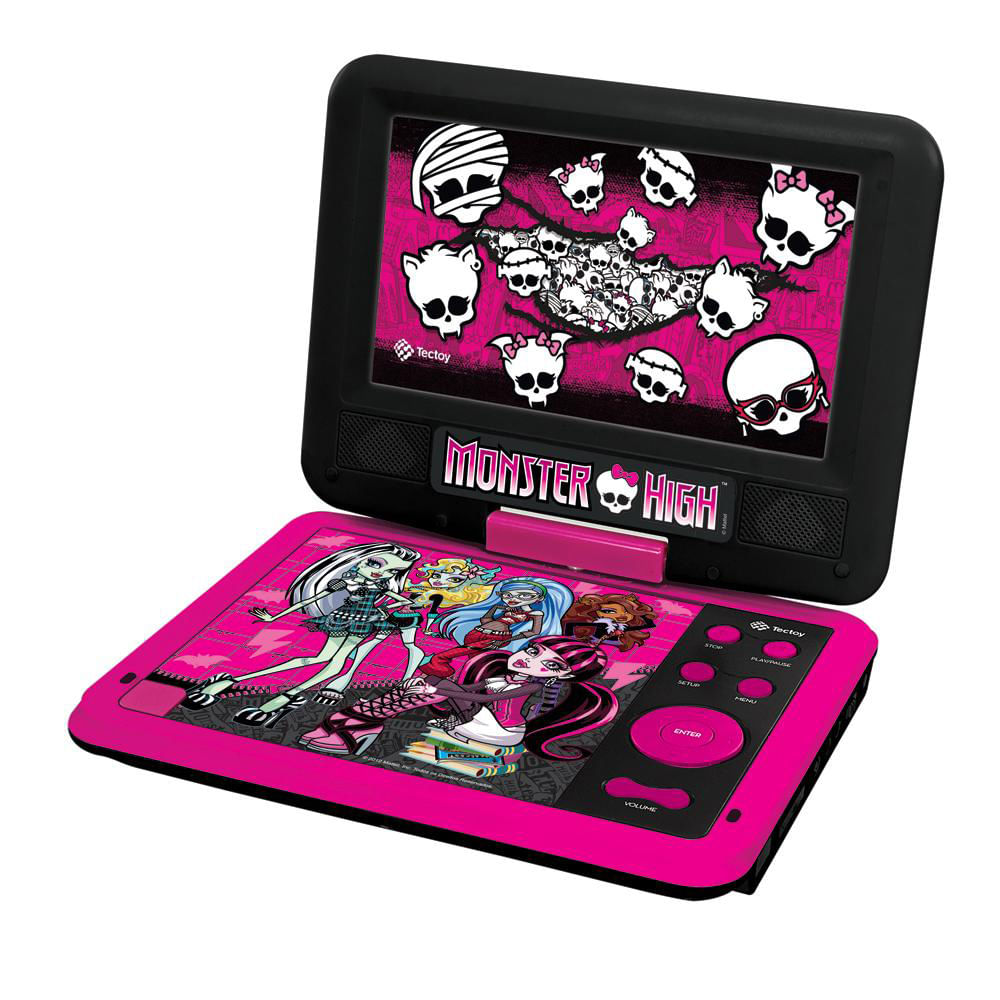 DVD Player Portátil - Monster High - Tectoy