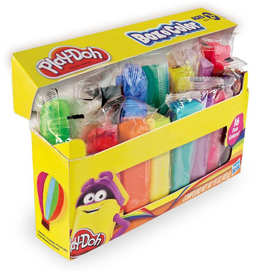 Caixa-Aberta-da-Massinha-Play-Doh-Refil-com-16-Cores-Hasbro