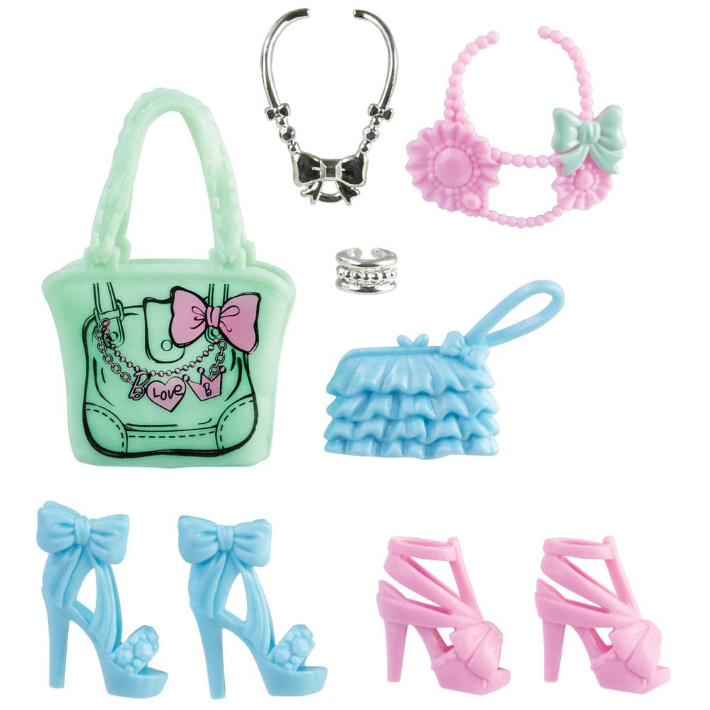 Conjunto Barbie Bolsas e Sapatos - Kit 1 - Mattel