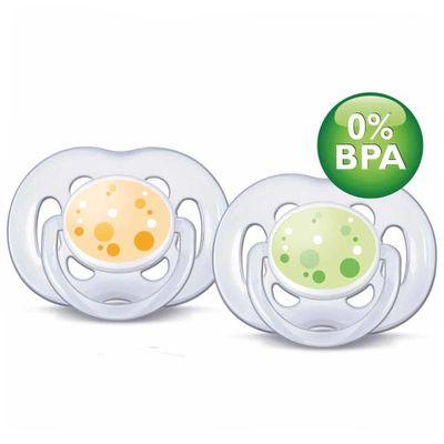Chupeta-Contemporanea-FreeFlow-6-a-18-Meses-Double-Pack-Amarelo-e-Verde-Philips-Avent