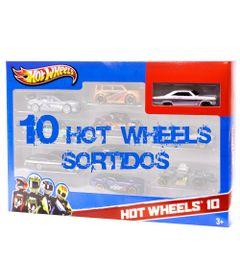 Carrinhos-Hot-Wheels-Pacote-com-10-Carros-Carro-Branco-427-Mattel