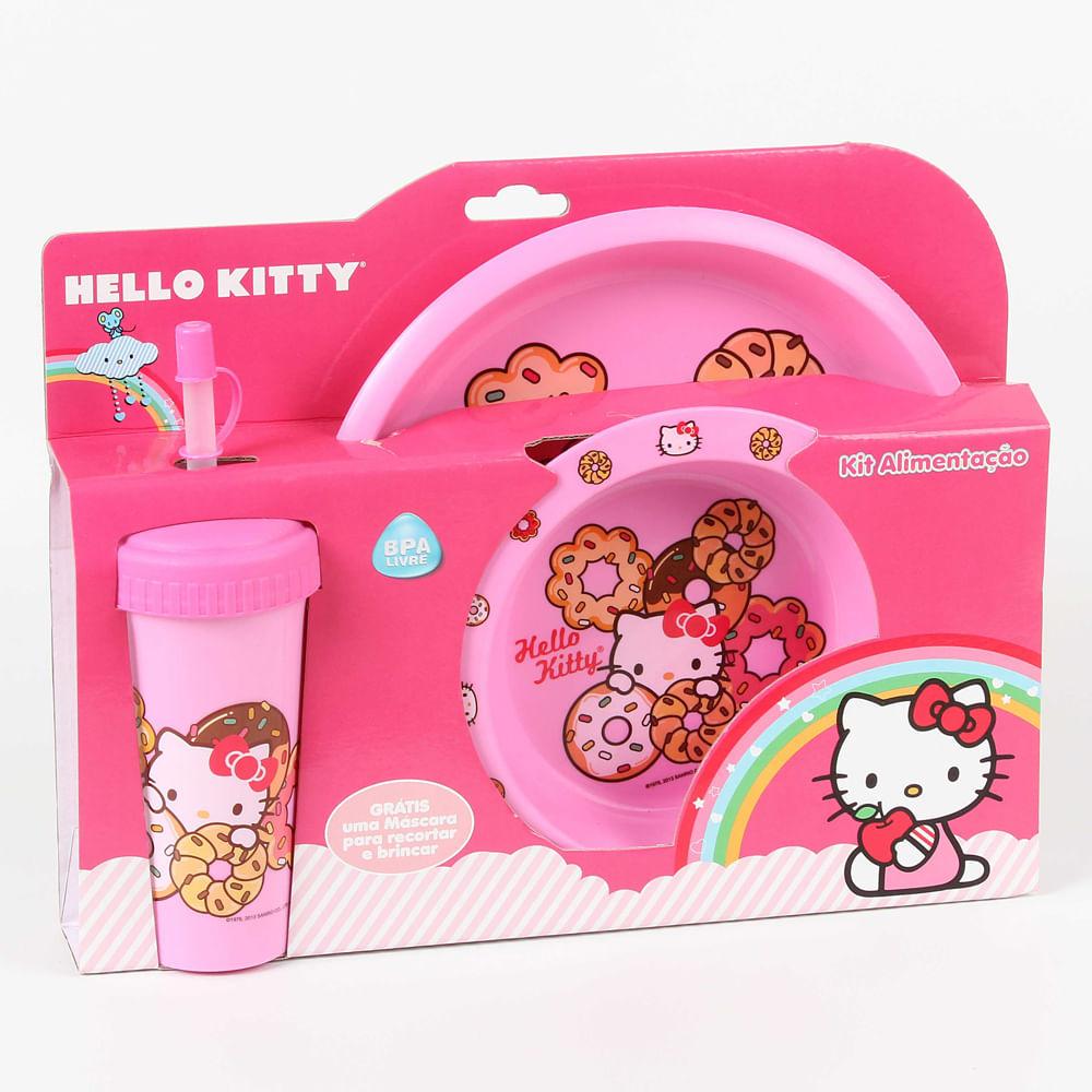 Kit Alimentação Hello Kitty - 3 Peças - BabyGo
