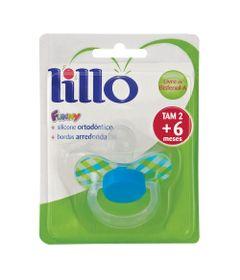 Chupeta-Fanny-Xadrez-Bico-de-Silicone-Ortodontico---Fase-2---Azul-e-Verde---Lillo