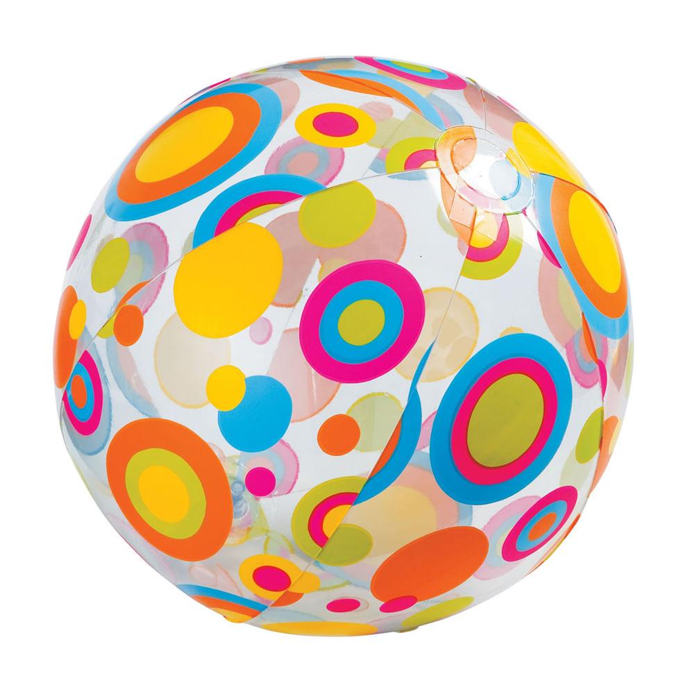 Bola de Praia - Argolas Coloridas Transparente - Intex