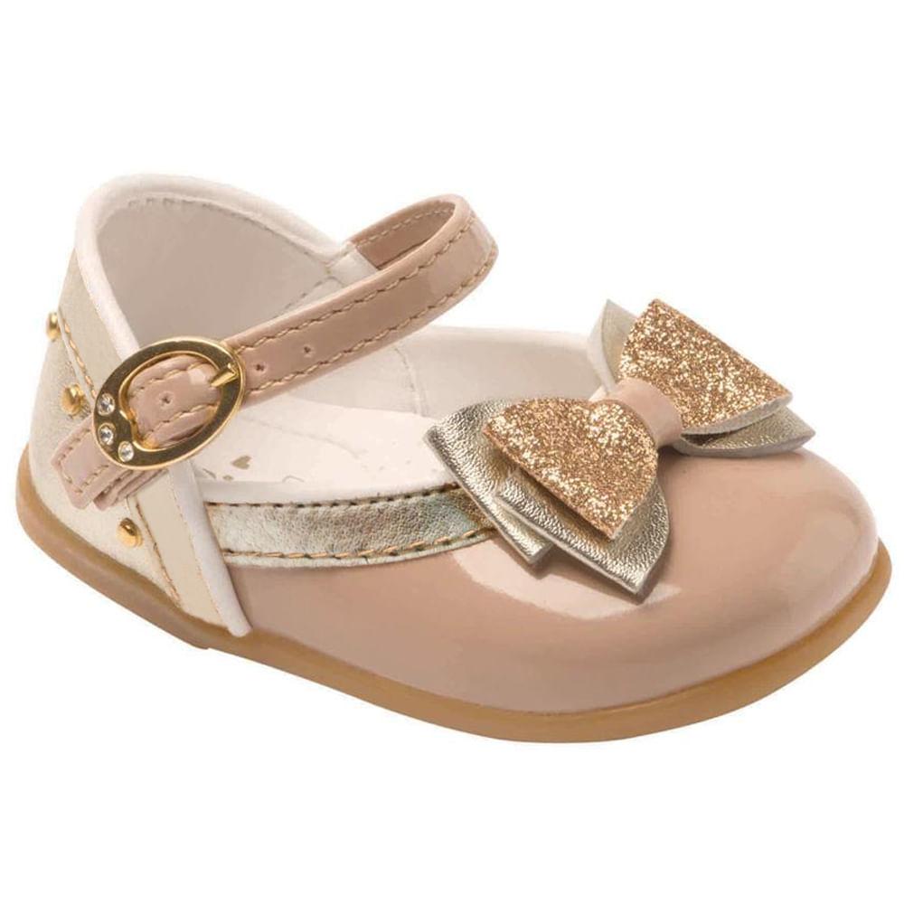 Sapato Doçura Festa, Amêndoa - Pimpolho Sapato Doçura Festa, Amêndoa Dourado - 19