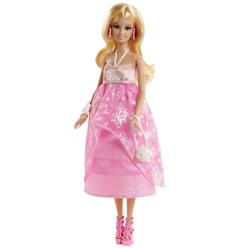 fbeb4dae68 Boneca Barbie Vestidos Longos - Passeio no Shopping - Mattel - Ri Happy  Brinquedos