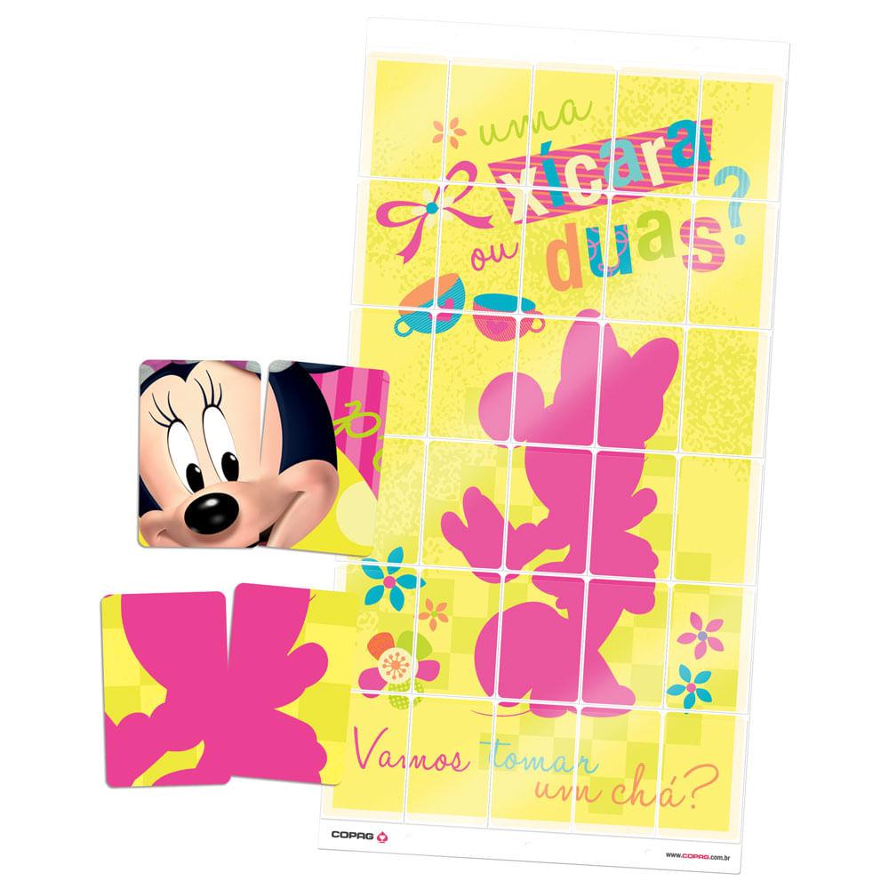 Jogo Monta-Pôster da Minnie - 2 Pôsteres em 1 - Disney - Copag