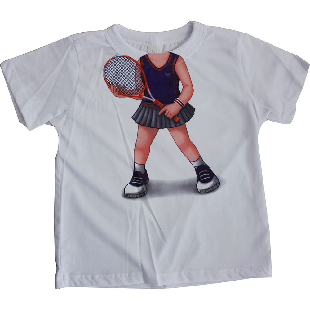 Camiseta Manga Curta Tenista - Branco - Mini Mix - GBaby - 1