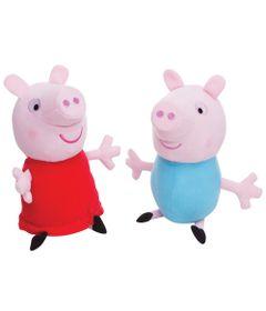 Kit-com-duas-Pelucias-Peppa-Pig-30cm-Peppa-e-George-Estrela