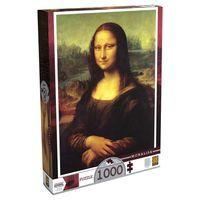 Quebra-Cabeca-Leonardo-Da-Vinci---Monalisa---1000-pecas---Grow