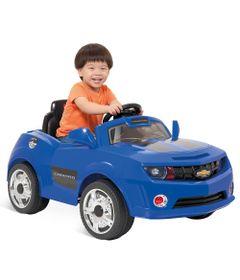 2613-Mini-Veiculo-Eletrico-Camaro-com-Controle-Remoto-6-Volts-Azul-Bandeirante
