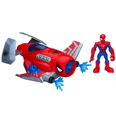 A5662-Boneco-e-Veiculo-Playskool-Marvel-Super-Hero-Spider-Strike-Jet-Hasbro