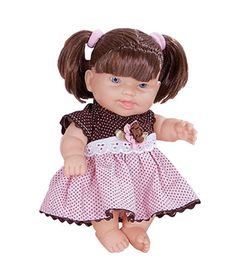 Boneca-Dolls-Collection-Poas---Marrom-e-Rosa---Cotiplas