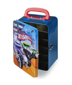 Maleta-Hot-Wheels-Porta-Carrinhos---Azul---Intek---HWCC2