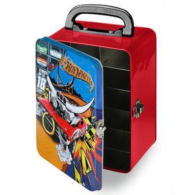 Maleta-Hot-Wheels-Porta-Carrinhos---Vermelha---Intek---HWCC2