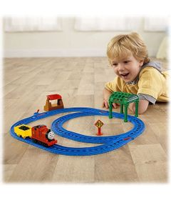 BGL97-BGM70-Ferrovia-Thomas-e-Friends-James-na-Estacao-Knapford-Fisher-Price