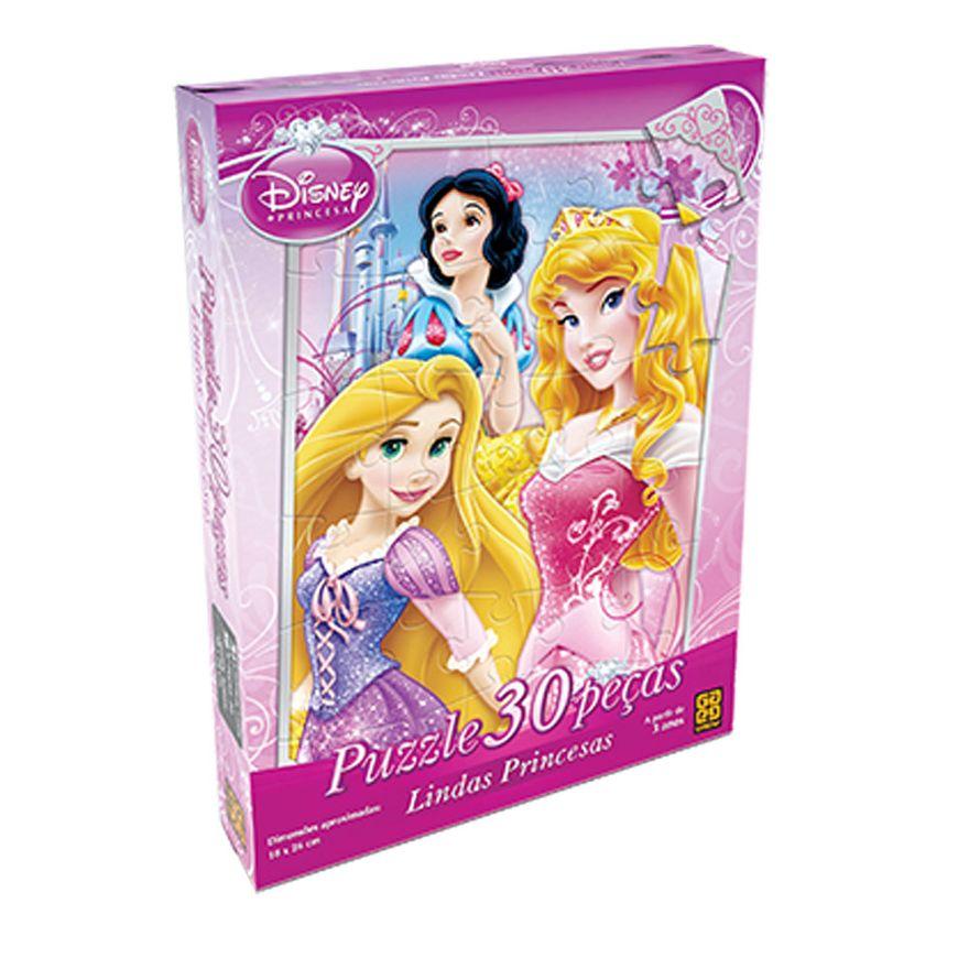 Quebra-Cabeca---Princesas-Disney---Lindas-Princesas---30-Pecas---Grow