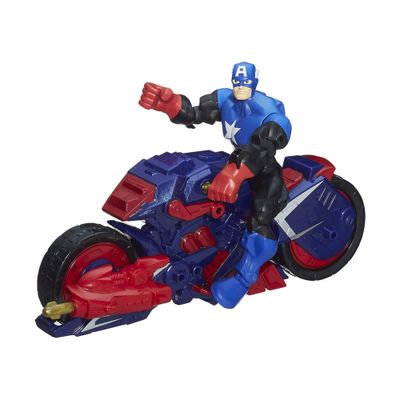 Boneco-Marvel-Super-Hero-Mashers---Capitao-America-com-Capcycle-Vehicle---Hasbro