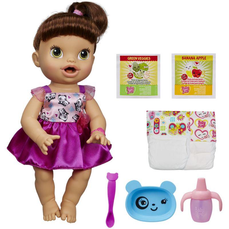 bc88c3fd5 Boneca Baby Alive Morena - Hora de Comer - A8346 - Hasbro - Ri Happy  Brinquedos